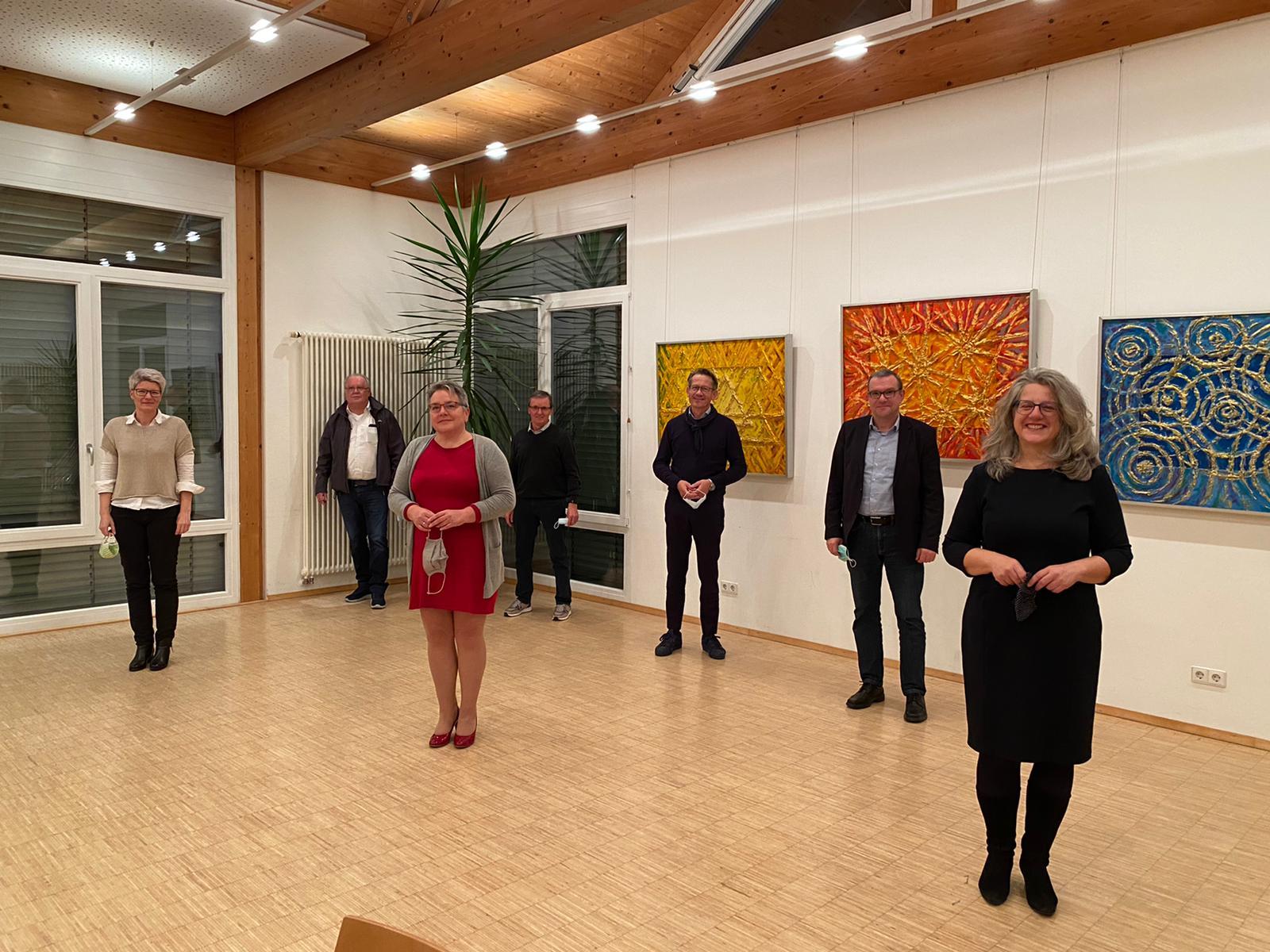 Nach der Wahl auf der Mitgliederversammlung des Gewerbevereins Burgrieden-Achstetten e. V.